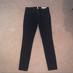 Rag & Bone Black Corduroy Skinny Jeans